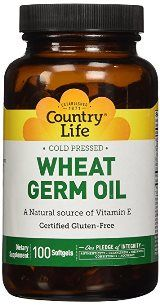 Wheat Germ Oil (20 Minims, 100 Softgel) Country Life
