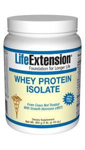 Whey Protein Isolate (Vanilla 454 grams)* Life Extension