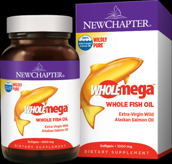 Wholemega Wild Alaskan Fish Oil 1000 mg (180* New Chapter Nutrition