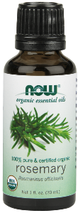 NOW® Certified Organic Rosemary Oil is steam-distilled..
