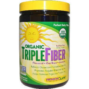 Organic Triple Fiber is a blend of organic ground flaxseed, organic acacia fiber and organic (gluten-free) oat bran..