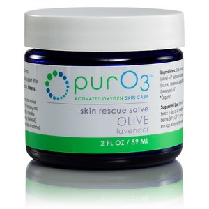 PurO3 saturates organic olive oil with activated oxygen (O3) to form a soothing, oxygen-rich skin salve. Aromatic lavender essential oil is added after ozonation. Use to enhance the beauty and appearance of your skin. Buy Today at Seacoast.com!.
