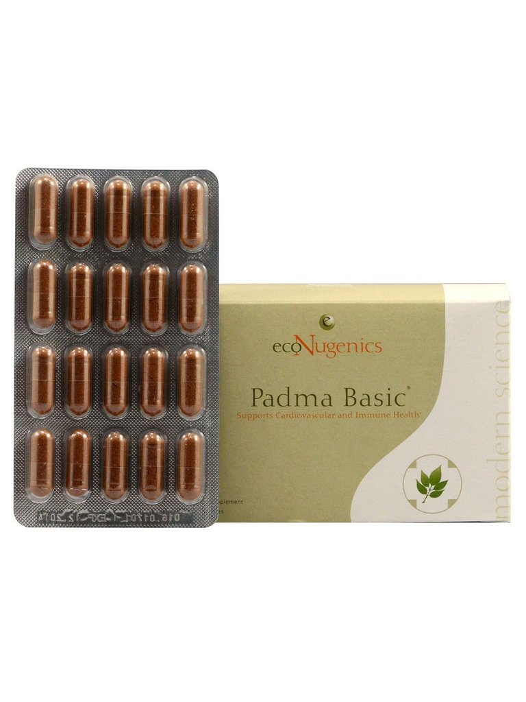 Padma Basic is an herbal compound recognized as a balancing formula. Padma Basic supports the immune and cardiovascular systems, while also promoting health responses to inflammation and supporting natural anti-oxidant activity..