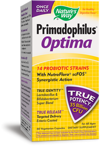 Primadophilus Optima is a potent probiotic for all ages to support digestive health and providing immune support. Stress, poor diet and antiobiotics can all cause the 'friendly' flora to be removed causing symptoms of indigestion, acid reflux, gas bloating and more..