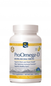 ProOmega-D from Nordic Naturals nourishes the body with essential Omega-3s and Vitamin D3..