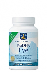 ProDHA Eye from Nordic Naturals provides nutritional support in the prevention of macular degeneration and other common vision disorders..
