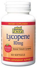Natural Factors Lycopene 10mg (60 Caps) is a supplement that helps destroy free radicals while also offering protection against prostate diseases..