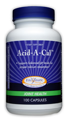Enzymatic Therapy Acid-A-Cal is a dietary supplement to support balanced pH levels for proper calcium absorption..