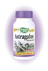 Nature's Way Astragalus Root Capsules. Astragalus (Astragalus membranaceus) is considered to have a normalizing effect on body functions. Astragalus has immune boosting properties..