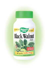 Nature's Way Black Walnut Hull Capsules. Black Walnut (Juglans nigra) was used by indigenous North Americans for food, wood and medicine Doctors. Black walnut contains and abundance of omega-3 and minerals..