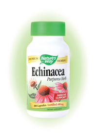 Nature's Way Echinacea Purpurea Herb Capsules. Echinacea grows wild in the midwest, and was used by Plains Indians more than any other herb. Today Echinacea is the best known herb available..