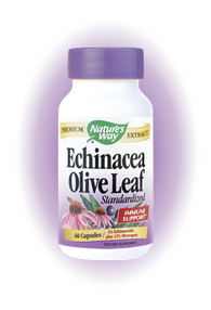 Nature's Way Olive leaf & Echinacea Extract is an effective and safe way to boost your immune system and provide general well-being.