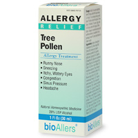 BioAllers Homeopathic Tree Pollen Allergy Treament. Relieve symptoms of sinus pressure, sneezing, water and itch eyes and more with this non-drowsy, non-stimulating formula..