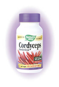 Nature's Way Cordyceps Standardized Extract is standardized to 10% cordycepic acid for increased vitality and endurance..