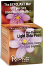 Reviva Light Skin Peel an All Natural, Non-Chemical peeling compound. Eliminates lifeless skin cells and impurites, improves skin color tone, re-establishes skin texture, and adds radiance and brightness to skin..