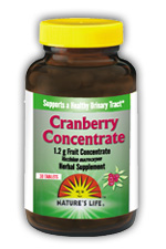 Nature's Way Cranberry Concentrate works to support a healthy urinary tract. This potent blend of cranberry solids is free from calories and sugar, but full of the healing effects of natural cranberries..
