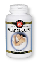 KAL Sleep Success Nighttime Rest Formula features all natural herbs and other ingredients that promote restful sleep and relaxation..