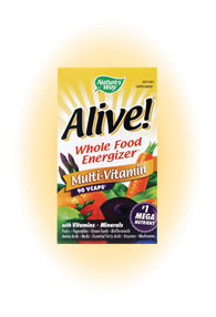 Alive Whole Food Energizer Veggie Capsules Multi-Vitamin. Feel the nutrients energize your body with each capsule. Too busy to cook what you should to feel great? Fill in the gap with Alive Whole Food Energizer..