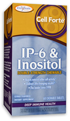 Enzymatic Therapy Chewable Cell Forte IP6 + Inositol with citrus flavor provides double strength natural killer cell enhancing activity with a delicious citrus flavor..