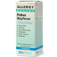 Relief from uncomfortable symptoms caused by pollen allergies. BioAllers Allergy Relief Pollen Hayfever Allergy Treatment. A Non-drowsy formula that is safe and effective..