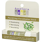 Aura Cacia's Purifying Eucalyptus Stick is made from pure essential oils and contains jojoba oil and coconut triglycerides to nourish skin..