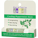 Aura Cacia, pure aromatherapy, Cooling Peppermint Stick, Invigorating, Non-drying, Nourishing.