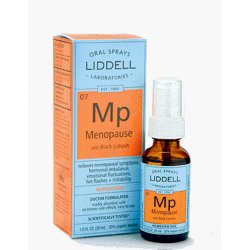Menopause spray by Liddell- with added Black Cohosh for the relief of symptoms associated with menopause.