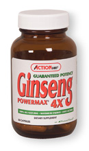 Action Labs Guaranteed Potency Ginseng Powermax 4X, This formula offers one of the highest concentrations of Guaranteed Potency Ginseng available today..