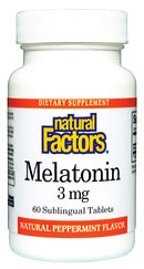 Natural Factors Melatonin supplement can help to provide a more restful and natural sleep..