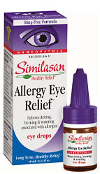 Similasan Eye Drops #2, Allergy Eyes stops itching, burning & watering. Similasan's unique 'Active Response Formula' quickly stimulates the eye's natural ability to stop itching, burning and watering from allergies..
