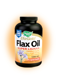 Nature's Way EFA Gold Flax Oil provides important Omega-3 fatty acids, which work with other essential vitamins and nutrients to improve overall health and reduce the risk of diabetes and cancer..
