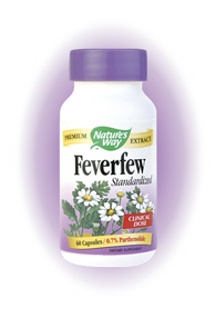 Feverfew  has been found to be effective in helping to reduce fevers. It also has been used to help treat some digestive problems. Feverfew is most commonly used in the reduction of headaches..