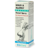 bioAllers Sinus & Allergy Spray provides homeopathic relief of allergies and sinus congestion, reducing headaches and alleviating congestion..