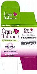CranBalance supplement offers maximum potenency for optimum urinary tract health..