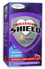 Cholesterol Shield - Enzymatic Therapy, Proven to help reduce Cholesterol 90 Tablets, Support Heart Health.