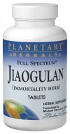 Planetary Formulas Jiaogulan is a special blend of Gynostemma Leaf extract to help reduce the effects of aging..