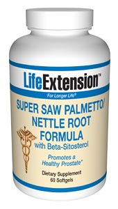 Life Extension Super Saw almetto/Nettle Root - Saw Palmetto and Nettle Root have been found to be very effective in helping to reduce the inflammation associated with an enlarged prostate..