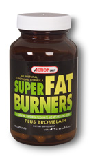 Action Labs Super Fat Burners is an all Natural Lipotropic Formula with L-Carnitine, Chromium Picolinate, Metabolizing Herbs, and Bromelain..