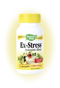 Nature's Way Ex-Stress (100 Caps) is a product specially designed to give users a sense of natural well-being and relaxation while relieving stress. Relax Naturally..