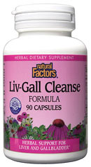 Natural Factors Liv-Gall Cleanse is a supplement designed to help cleanse and support the liver and gallbladder which work together as the filtration system in our bodies. Special Herbs include dandelion helping to cleanse the liver and enhance bile flow..