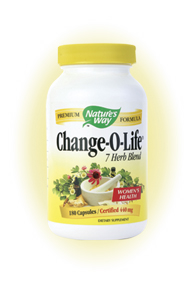 Nature's Way Change-O-Life is a blend of 7 herbs that help support women's health during menopause..