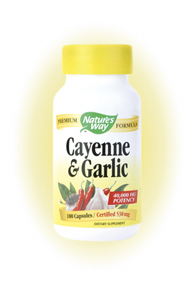 Nature's Way Cayenne Garlic Herbal Blend is a natural supplement that is beneficial to many parts of the body..