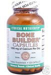 Bone Builder Capsules is an easy to swallow calcium supplement made from microcrystalline hydroxyapatite concentrate (MCHC),Vitamin D, Magnesium, Boron to maintain bone density..