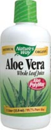 Nature's Way Aloe Vera Whole Leaf Juice with Aloe PolyMax, the only Aloe Vera certified for both purity and polysaccharide content..