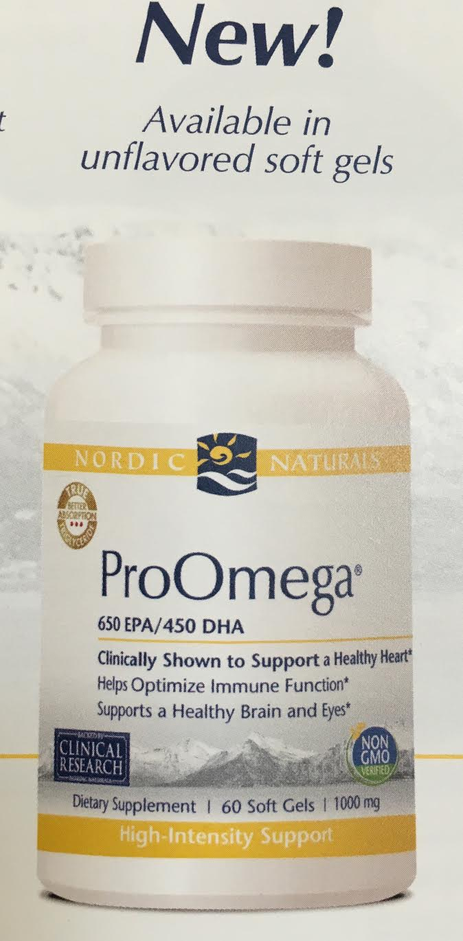 Proomega|unflavored from Nordic Naturals supplies the body with highly concentrated forms of DHA and EPA, essential fatty acids which promote a healthy brain and heart..