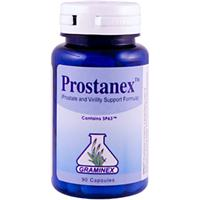 Combines the dual benefits of Graminex Flower Pollen Extract and Saw Palmetto to support healthy prostate function and male virility..