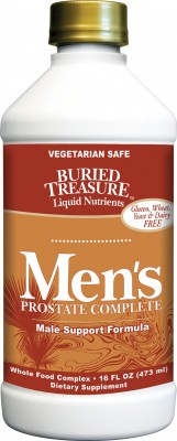 Buried Treasure developed Men's Prostate Complete to help balance men's hormone levels, prevent inflammation and swelling, improve circulatory and urinary functions, and support a healthy prostate gland. Super absorbable liquid prostate help..