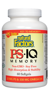Natural Factors PS (phosphatidylserine) is a natural nutrient that enhances memory, focus and clarity, while relieving stress and tension..