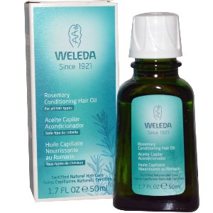 Rosemary Conditioning Hair Oil from Weleda contains natural essential oils and extracts to help nourish, moisturize, strengthen, and protect your hair..