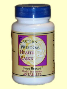 Eastern Wisdom Sinus Rescue; The herbs in this formula have been used traditionally in China to strengthen the immune system and sinus inflammation, congestion, and sinus headache pain..